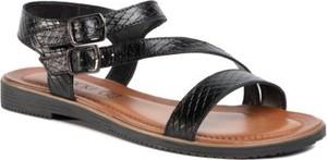 Czarne sandały Lasocki w stylu casual z klamrami