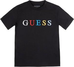 Czarna koszulka dziecięca Guess