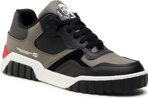 Buty sportowe Diesel sznurowane ze skóry