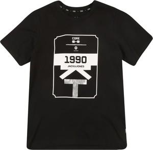 Czarna koszulka dziecięca Jack & Jones Junior z dżerseju
