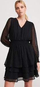 Sukienka Reserved w stylu casual z dekoltem w kształcie litery v z długim rękawem