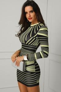Sukienka Ivet.pl mini w stylu casual z długim rękawem