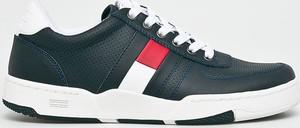 Czarne buty sportowe Tommy Jeans ze skóry