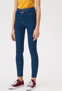 Granatowe spodnie Sinsay w stylu casual
