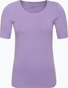 Fioletowy t-shirt Franco Callegari z okrągłym dekoltem