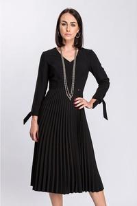 Czarna sukienka Semper z długim rękawem
