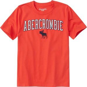 Czerwona koszulka dziecięca Abercrombie & Fitch