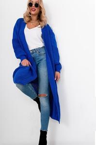 Niebieski sweter ZOiO.pl w stylu casual