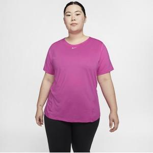 Fioletowy t-shirt Nike z krótkim rękawem w sportowym stylu
