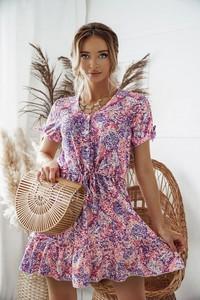 Sukienka Shopaholics Dream z dekoltem w kształcie litery v z krótkim rękawem