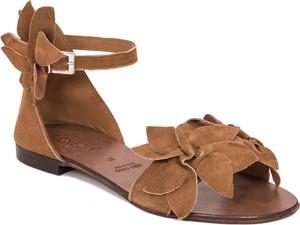 Sandały Venezia z weluru w stylu klasycznym