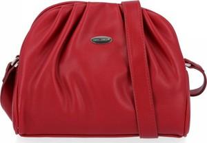 Czerwona torebka David Jones na ramię ze skóry ekologicznej