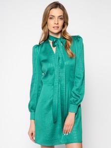 Zielona sukienka Twinset mini z długim rękawem