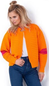 Pomarańczowy sweter Fobya w stylu casual
