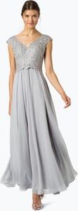 Sukienka Luxuar Fashion z tiulu z krótkim rękawem maxi