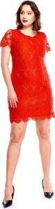 Sukienka ADRAINO INES ROSE z okrągłym dekoltem mini