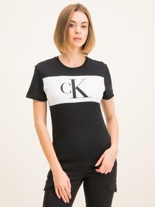 T-shirt Calvin Klein z krótkim rękawem w młodzieżowym stylu z okrągłym dekoltem