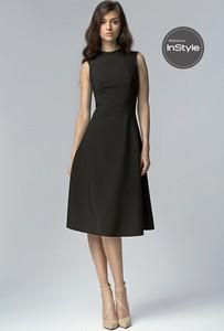 Sukienka NIFE z bawełny midi rozkloszowana
