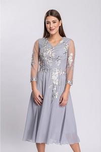 Sukienka Semper maxi z tkaniny z długim rękawem