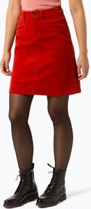 Czerwona spódnica Marie Lund ze sztruksu w stylu casual