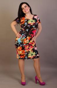 Sukienka Oscar Fashion w stylu casual z okrągłym dekoltem