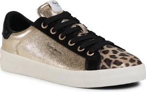 Złote buty sportowe eobuwie.pl sznurowane