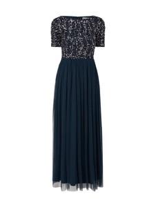 Niebieska sukienka Lace & Beads rozkloszowana maxi