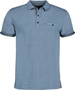 Niebieski t-shirt Lavard z bawełny w stylu casual