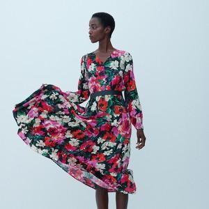 Sukienka Reserved z długim rękawem z dekoltem w kształcie litery v mini