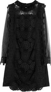 Czarna sukienka TOVA z długim rękawem