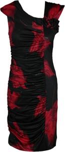 Sukienka Fokus w stylu vintage midi asymetryczna