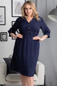 Sukienka KARKO w stylu casual szmizjerka mini