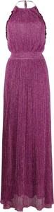 Sukienka M Missoni maxi z dekoltem w kształcie litery v