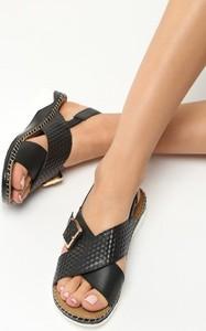 Czarne sandały Multu w stylu casual