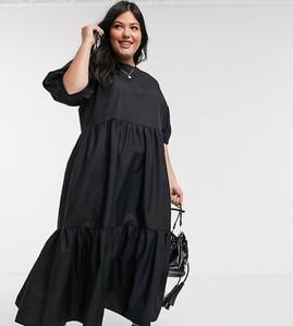 Sukienka Asos z okrągłym dekoltem maxi z bawełny