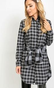 Sukienka Sheandher.pl z bawełny w stylu casual z długim rękawem