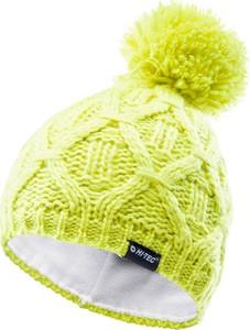 Zielona czapka Hi-Tec z dzianiny