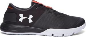 Buty sportowe Under Armour sznurowane w sportowym stylu ze skóry