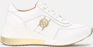 Buty sportowe Kazar sznurowane ze skóry z płaską podeszwą