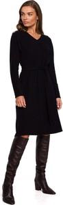 Sukienka Style z dzianiny z długim rękawem