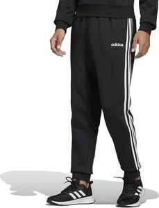 Czarne spodnie sportowe Adidas z bawełny