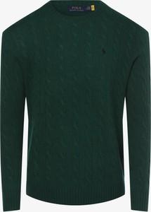 Zielony sweter POLO RALPH LAUREN z kaszmiru