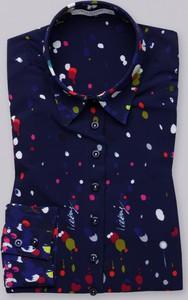 Granatowa bluzka Willsoor z długim rękawem