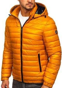 Pomarańczowa kurtka Denley w stylu casual krótka