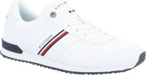 Buty sportowe Tommy Hilfiger sznurowane ze skóry w sportowym stylu