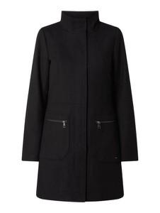 Czarny płaszcz Tom Tailor Denim z wełny