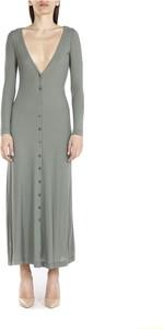 Zielona sukienka Alysi z długim rękawem