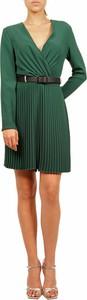 Zielona sukienka Hanita z dekoltem w kształcie litery v