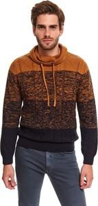 Sweter Top Secret z golfem w młodzieżowym stylu