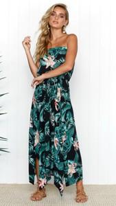 Sukienka noshame w stylu boho maxi bez rękawów